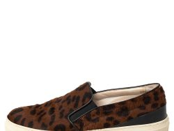 Tod's Brown Leopard Print Calf Hair Slip On Sneakers Size 38.5