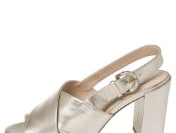 Tod's Metallic Silver Leather Criss Cross Slingback Sandals Size 36.5