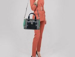 Tory Burch Multicolor Suede And Leather Tote