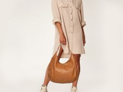 Tory Burch Tan Leather Marion Hobo