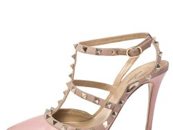 Valentino Light Pink Leather Rockstud Pointed Toe Pumps Size 39