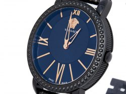 Versace Black Ion Plated Stainless Steel Krios M6Q60D008 Women's Wristwatch 38 mm