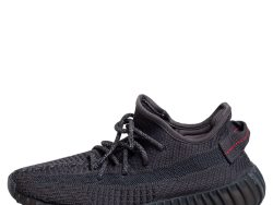 Yeezy x adidas Black Knit Fabric 350 V2 Static Low Top Sneakers Size 37 1/3