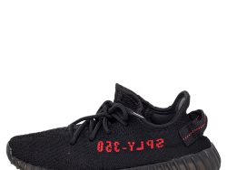 Yeezy x adidas Black Knit Fabric Boost 350 V2 Low Top Sneakers Size 38 2/3