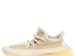 Yeezy Cream/White Knit Fabric 350 V2 Natural Sneakers FR 38