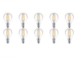 PHILIPS - LED Lamp 10 Pack - CorePro Luster 827 P45 CL - E14 Fitting - 4.5W - Warm Wit 2700K | Vervangt 40W