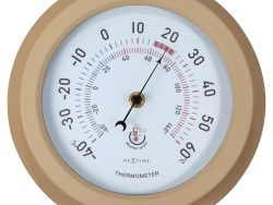 NeXtime NE-4302BR Buitenthermometer 22CM Metaal Bruine Lily