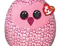 TY Squish A Boo Knuffelkussen Uil Pinky 31 cm