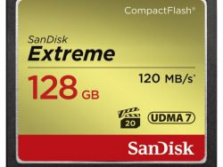 Sandisk CF Extreme 128GB 120MB/s Read 85MB/s Write