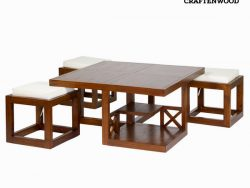 Hoofdtafel Mindi hout (90 x 90 x 45 cm) - Chocolate Collectie by Craftenwood