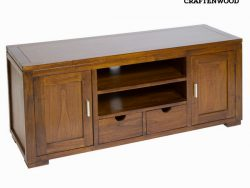 TV – tafel Mindi hout (130 x 45 x 55 cm) - Chocolate Collectie by Craftenwood