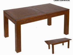 Verlengbare Tafel Mindi hout (160 x 90 x 78 cm) - Nogal Collectie by Craftenwood