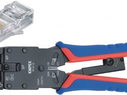 Knipex 97 51 12 SB Crimp Lever Pliers For Western Plugs Western Connector Rj10 (4-pin) 7.65 Mm