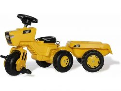 Rolly Toys 052936 RollyTrac CAT Traptractor + Aanhanger