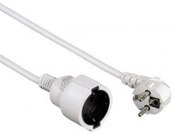 Hama Profi Extension Cable With Earth Contact 10 M White