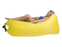 Happy People Lounger To Go 2.0 Luchtbed 180x75x60 cm Geel