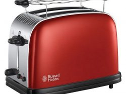 Russell Hobbs 23330-56 Colours Plus+ Flame Red Broodrooster Rood/Chroom