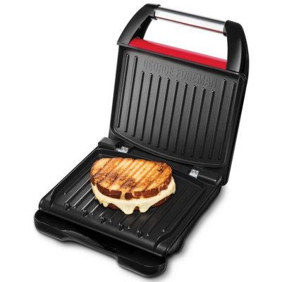 George Foreman 25030-56 Steel Compact Grill Rood/Zwart