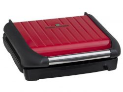George Foreman 25040-56 Steel Grill Family Contactgrill Rood