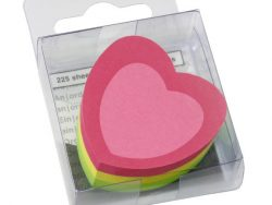 Info Notes IN-5840-39 Info Shaped Sticky Notes 50x50mm Hart Assorti 225 Vel