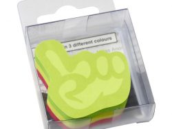 Info Notes IN-5844-39 Info Shaped Sticky Notes 50x50mml Hand Assorti 225 Vel