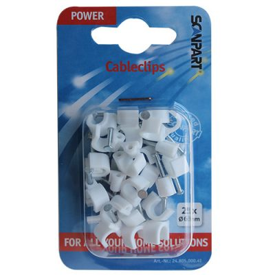 Scanpart Snoerclips 6mm Rond Wit A25
