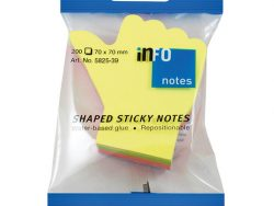 Info Notes IN-5825-39 Info Shaped Sticky Notes 68x68 'hand' Assorti 200 Vel