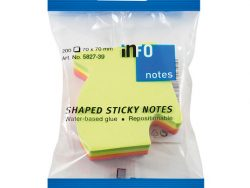 Info Notes IN-5827-39 Info Shaped Sticky Notes 67x68 'pijl' Assorti 200 Vel