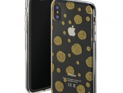 Hama Cover Golden Circles Voor Apple IPhone X Transparant/goud