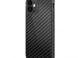 Black Rock Robust Real Carbon Cover for Apple iPhone 12 Mini Black