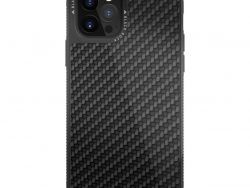 Black Rock Robust Real Carbon Cover for Apple iPhone 12/12 Pro Black