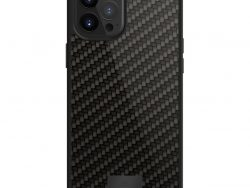 Black Rock Protective Real Carbon Cover for Apple iPhone 12 Pro Max Black
