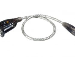 Aten UC232A1-AT Usb 2.0 Kabel A Male - Sub-d 9-pins Male Rond 100 Cm Zilver
