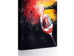 Sound Art Canvas + Bluetooth Speaker Pouring A Glass Of Wine