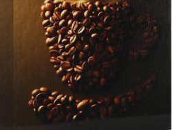 Sound Art Canvas + Bluetooth Speaker Coffee Cup In Coffee Beans