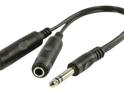 Valueline Vlap23110b0.20 6.35 mm To 2x 6.35 mm Stereo  Splitter Cable 0.2 M