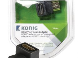 König KNV34901E High Speed Hdmi Met Ethernet Adapter 90° Haaks Hdmi-connector - Hdmi Female Antraciet