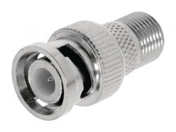 Valueline VLSP41965M Antenne Adapter Bnc Male - F-connector Female Zilver