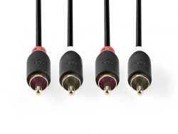 Nedis CABW24200AT30 Stereo Audiokabel 2x Rca Male - 2x Rca Male 3