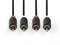 Nedis CABP24200AT10 Stereo Audiokabel 2x Rca Male - 2x Rca Male 1