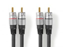 Nedis CAGC24200AT50 Stereo-audiokabel 2x Rca Male - 2x Rca Male 5