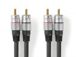 Nedis CAGC24200AT200 Stereo-audiokabel 2x Rca Male - 2x Rca Male 20