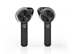 Nedis HPBT5054BK Fully Wireless Bluetooth® Earphones 3 Hours Playtime Voice Control Charging Case Black