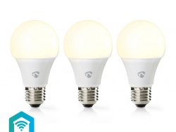 Nedis WIFILW32WTE27 Smartlife Led Bulb Wi-fi E27 800 Lm 9 W Warm Wit 2700 K Energieklasse: A+ Android™ & Ios Diameter: 60 Mm A60