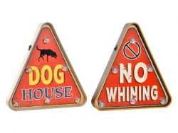 Lamp DKD Home Decor Dog House / No Whining (2 pcs) (30 x 5 x 32 cm)