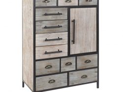Ladenkast DKD Home Decor Hout Metaal (80 x 40 x 122 cm)