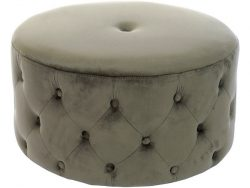 Voetensteun DKD Home Decor Capitone Polyester Hout Chic (67 x 67 x 36 cm)