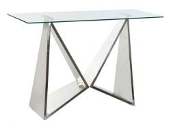 Console DKD Home Decor Modern Kristal Staal (120 x 40 x 78 cm)