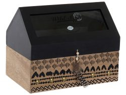 Box for Infusions DKD Home Decor Kristal Koloniaal Hout MDF (22 x 14 x 17 cm)