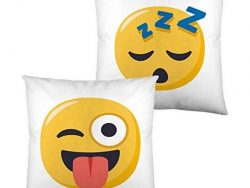 Kussen met vulling Emoji Winking Face with Tongue and Sleeping (40 x 40 cm)